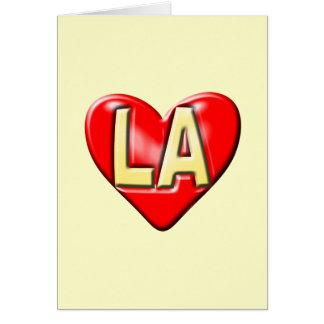 I Love LA Note Card