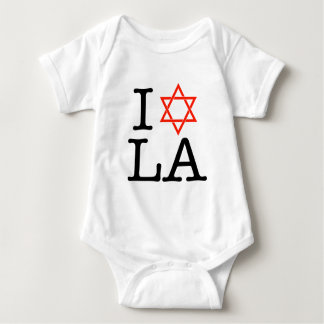 I Love LA ( Star of David ) Baby Bodysuit