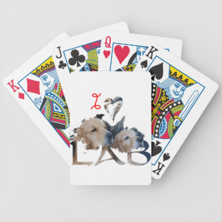 I love Lab Bicycle Playing Cards