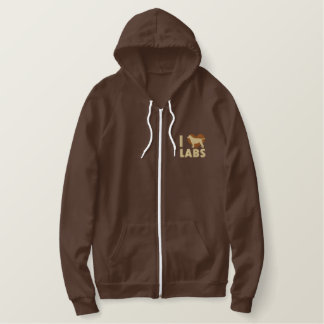 I Love Labs Embroidered Shirt (Hoodie)