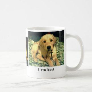 I love Labs! Basic White Mug
