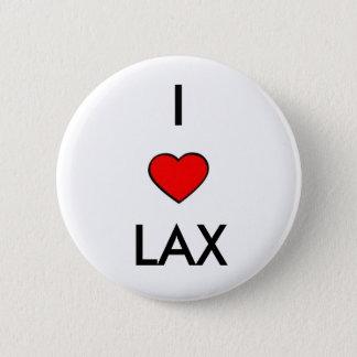 i love lacrosse 6 cm round badge