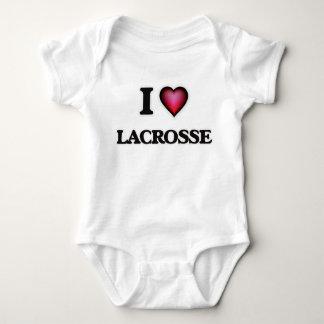 I Love Lacrosse Baby Bodysuit