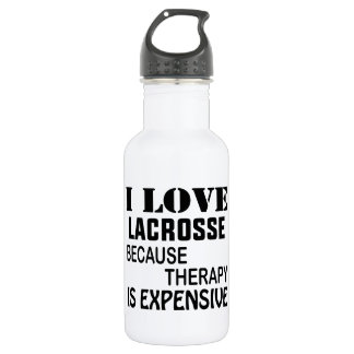 I Love Lacrosse  Because Therapy Is Expensive 532 Ml Water Bottle