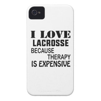 I Love Lacrosse  Because Therapy Is Expensive iPhone 4 Case