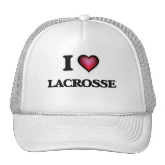 I Love Lacrosse Cap