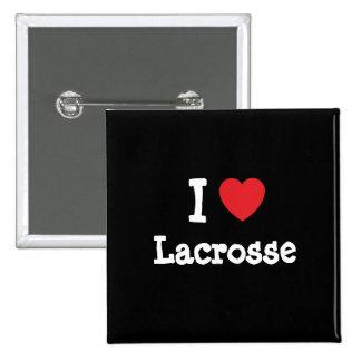 I love Lacrosse heart custom personalized Pin
