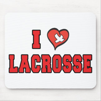 I Love Lacrosse Mouse Pad