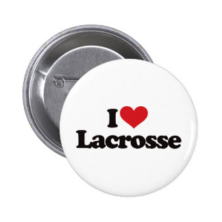 I Love Lacrosse Pins