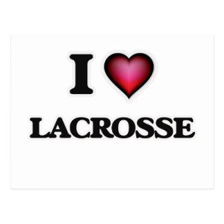 I Love Lacrosse Postcard