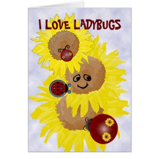 I Love Ladybugs Greeting Card