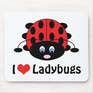 I Love Ladybugs Mousepad