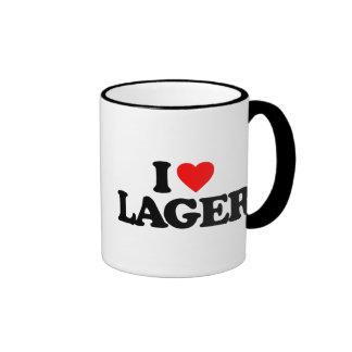 I LOVE LAGER RINGER MUG