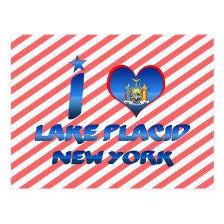 I love Lake Placid, New York Postcard