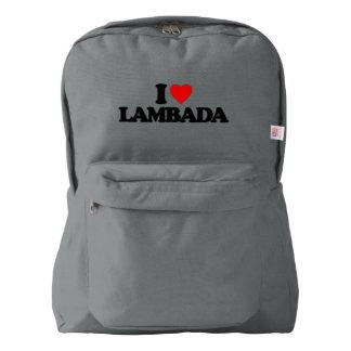 I LOVE LAMBADA BACKPACK
