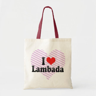 I Love Lambada Canvas Bags