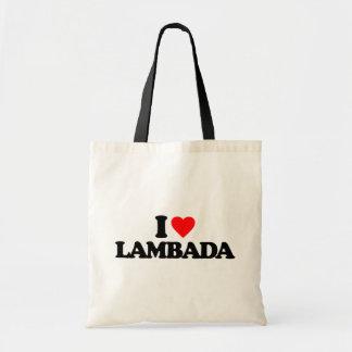 I LOVE LAMBADA BUDGET TOTE BAG