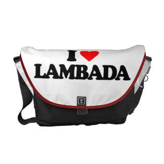 I LOVE LAMBADA COURIER BAG