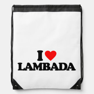 I LOVE LAMBADA DRAWSTRING BACKPACK