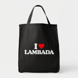 I LOVE LAMBADA GROCERY TOTE BAG