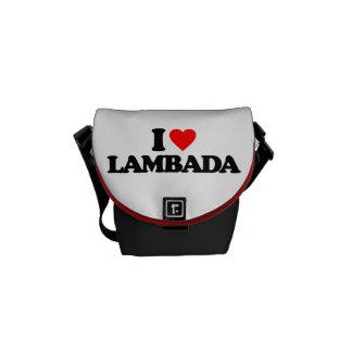 I LOVE LAMBADA MESSENGER BAGS