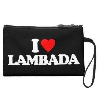 I LOVE LAMBADA WRISTLET CLUTCH