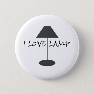 I Love Lamp 6 Cm Round Badge