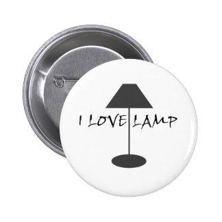 I Love Lamp 6 Cm Round Badge