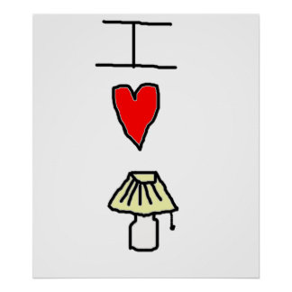 I love lamp print