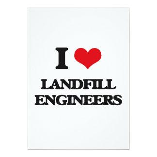 """I love Landfill Engineers 5"""" X 7"""" Invitation Card"""