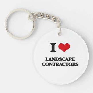 I love Landscape Contractors Keychain