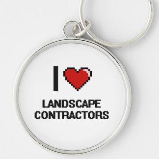 I love Landscape Contractors Silver-Colored Round Key Ring