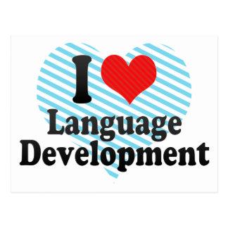 I Love Language Development Postcard