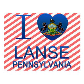 I Love Lanse, PA Postcard