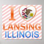 I Love Lansing, IL Print