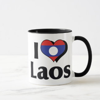 I Love Laos Flag Mug