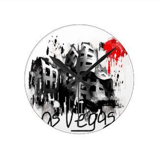 I love Las Vegas Round Clock