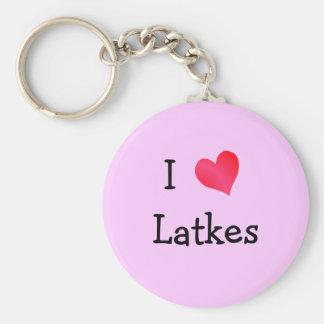 I Love Latkes Key Ring