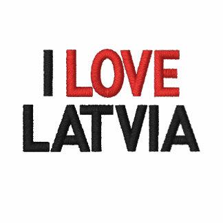 I LOVE LATVIA EMBROIDERED POLO SHIRTS