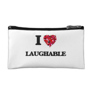 I Love Laughable Cosmetic Bags