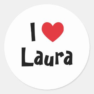 I Love Laura Round Sticker