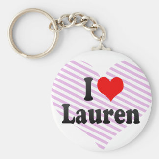 I love Lauren Key Chain