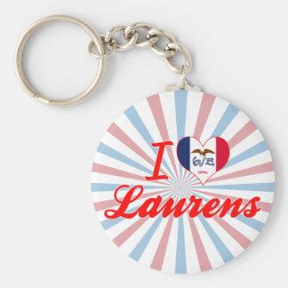 I Love Laurens Iowa Key Chain