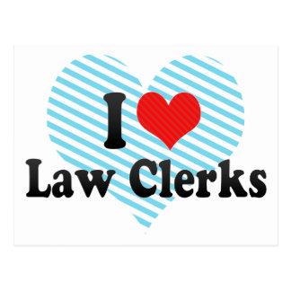 I Love Law Clerks Postcard