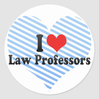 I Love Law Professors Sticker