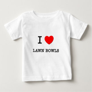 I Love Lawn bowls Baby T-Shirt