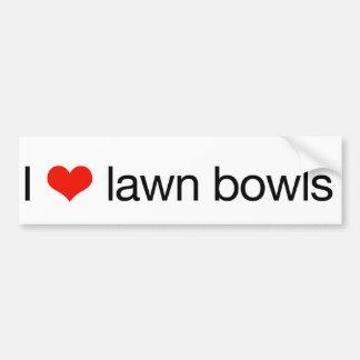 I love lawn bowls bumper stickers