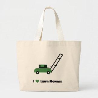 I love Lawn Mowers Large Tote Bag