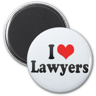 I Love Lawyers Refrigerator Magnet
