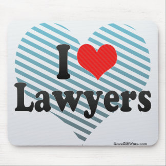 I Love Lawyers Mouse Pad